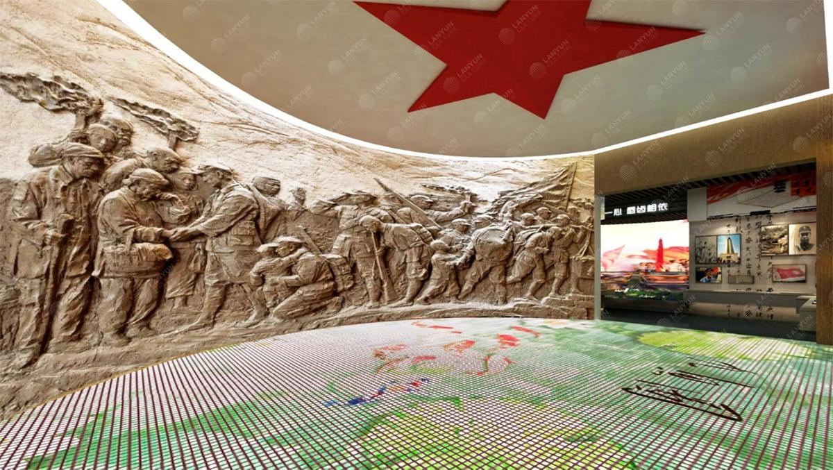 上海嘉定双拥展馆展厅